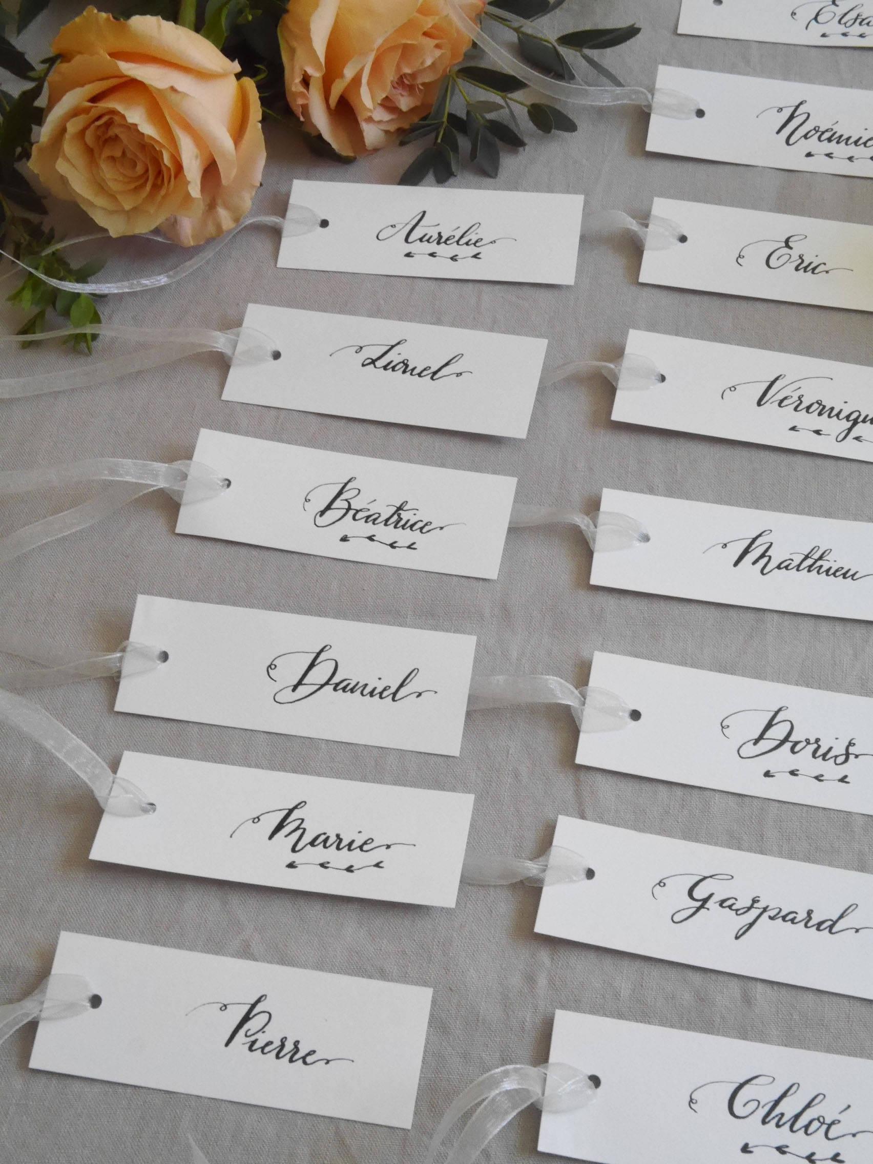 Handwritten Calligraphy Wedding Place Cards Wedding Name