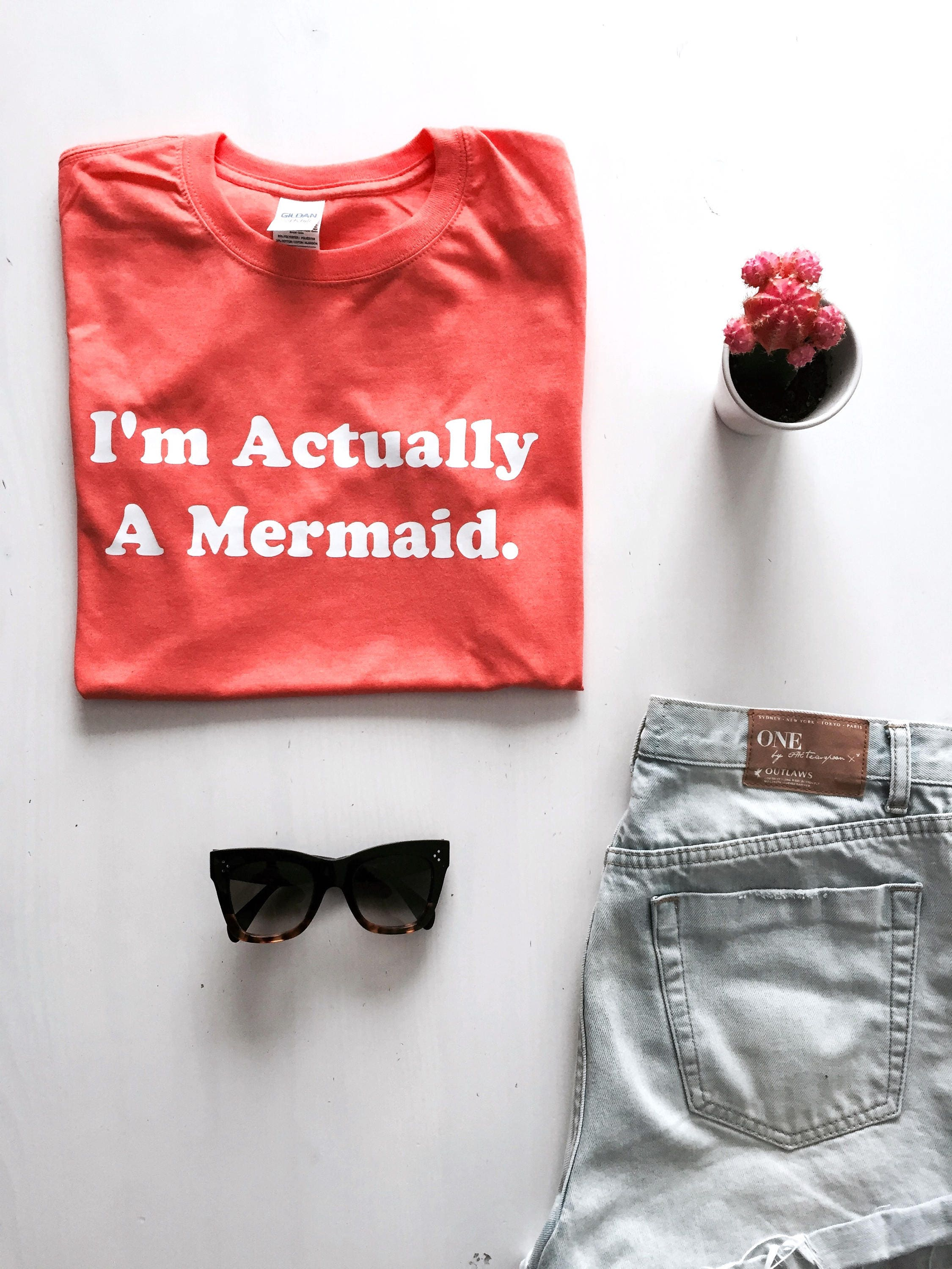 SALE TODAY I/'m Actually a Mermaid T Shirt
