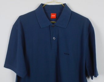 d7fd67e35 Vintage Boss Poloshirt, 90s, vintage clothing, Hugo Boss, Poloshirt, blue,  90s clothing (KK/09/515)