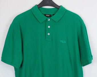FILA Polo, Vintage Poloshirt, 90s, vintage FILA, Poloshirt green, 90s clothing