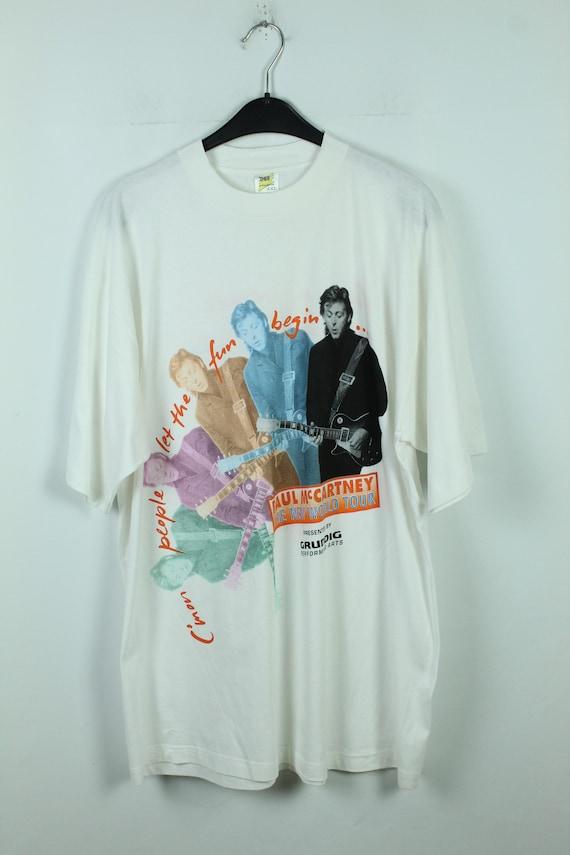 1993 Paul McCartney Tour shirt Off the Ground Tour English rock band shirt Rock Pop Men/'s size XL