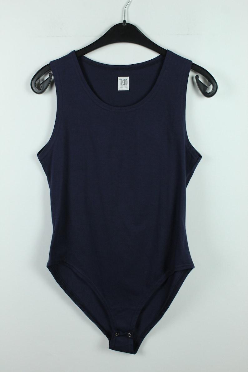 Vintage Body 90s fashion KK10607 Size L 90s clothing blue