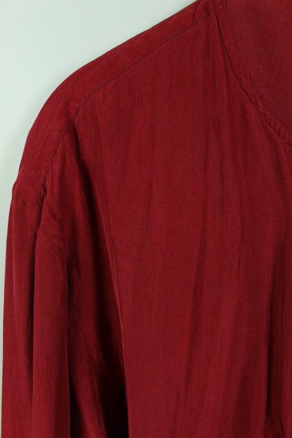 Vintage silk blouson 90s, Size L, silk bomber, 90… - image 3