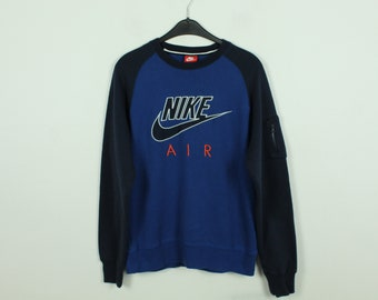 Vintage Nike Sweater, Size M, Sweatshirt, with embroidered logo, blue, dark blue (KK/21/09/233)