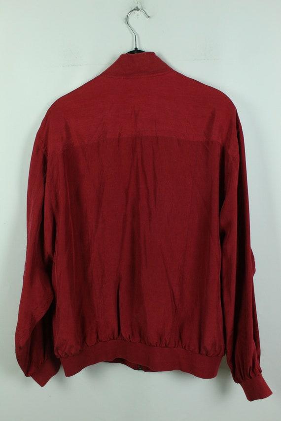 Vintage silk blouson 90s, Size L, silk bomber, 90… - image 4