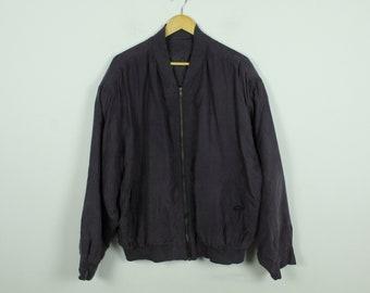 Vintage Silk Blouson 90s, Size XL, Silk, Blouson, 90s, violet (KK/21/06/225)