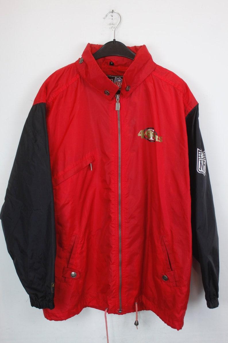 new product 22ab0 8cf97 ORIGINAL 90s 49ers jacket, NFL, San Francisco 49ers, sportswear, rain  jacket, windbreaker, sportswear, vintage clothing, red (KK/06/231)