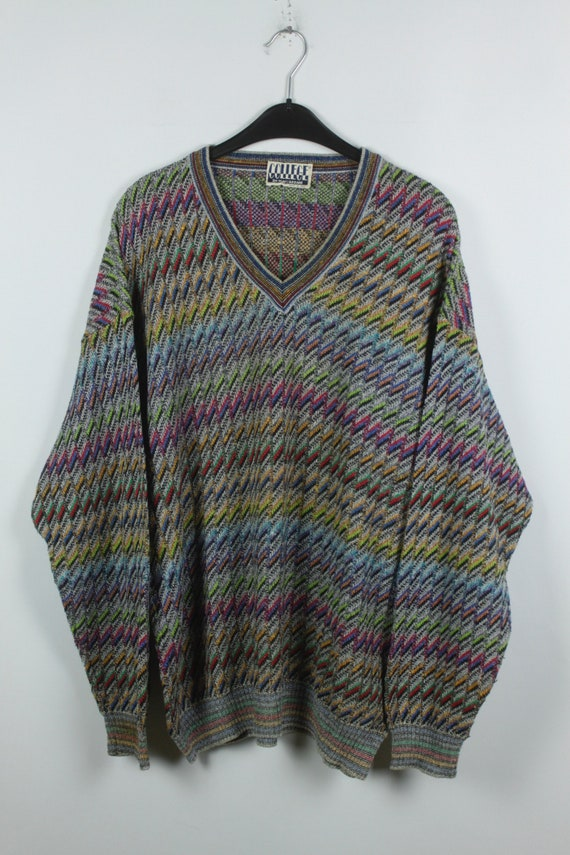 Size M Vintage Pullover Vintage Sweater 90s clothing 90s jumper KK06114