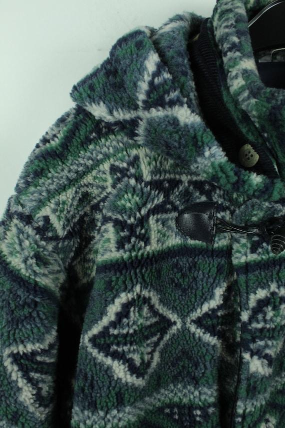 Vintage 90s crazy pattern fleece jacket, Size L, … - image 3