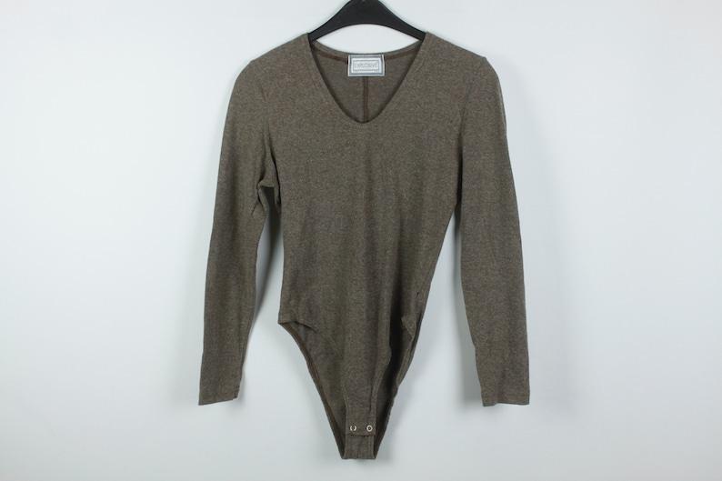 Vintage Body vintage leotard KK06335 90s fashion wool Size S 90s clothing