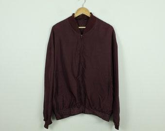 Vintage Silk Blouson 90s, Size L, Silk, Blouson, 90s, red (KK/21/06/222)