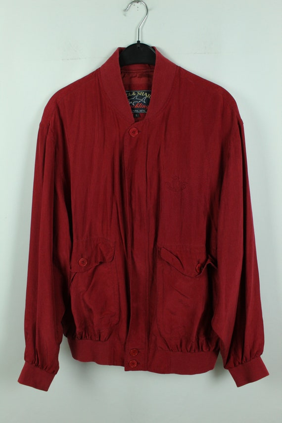 Vintage silk blouson 90s, Size L, silk bomber, 90… - image 2