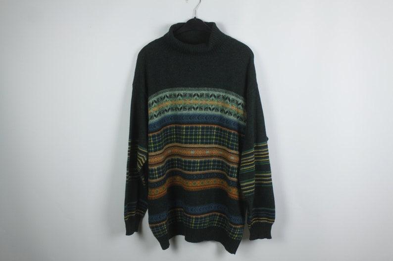 Vintage Pullover Size L Benetton 90s jumper Vintage Benetton Sweater 90s clothing KK06076
