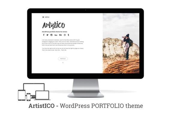 ArtistICO sensible Wordpress Minimal Portfolio Theme con el