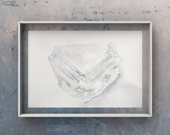 Diamond print - April birthstone, birthstone, Rough diamond, April birthday, precious stones, fine art print, giclee print, april baby