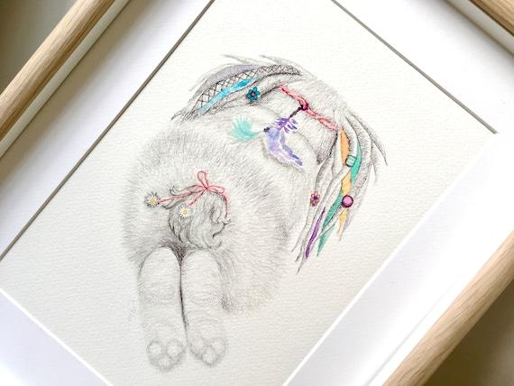 Bunny Art Print - Bunny Wall Art | Bunny Nursery Art | Rabbit Nursery Art | Boho Rabbit
