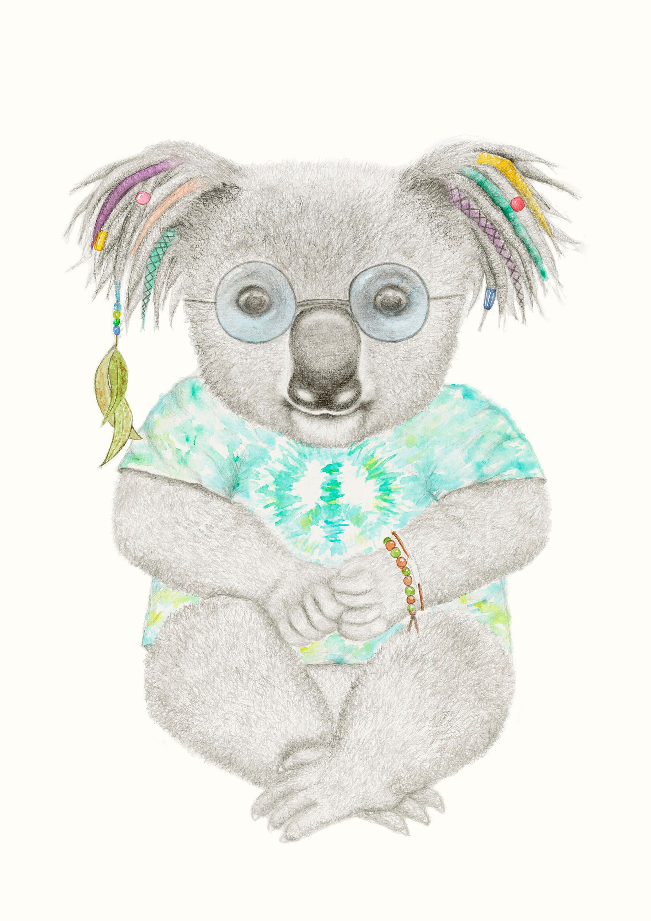 Koala Print Koala Art Quirky Art Cute Nursery Art Koala Nursery