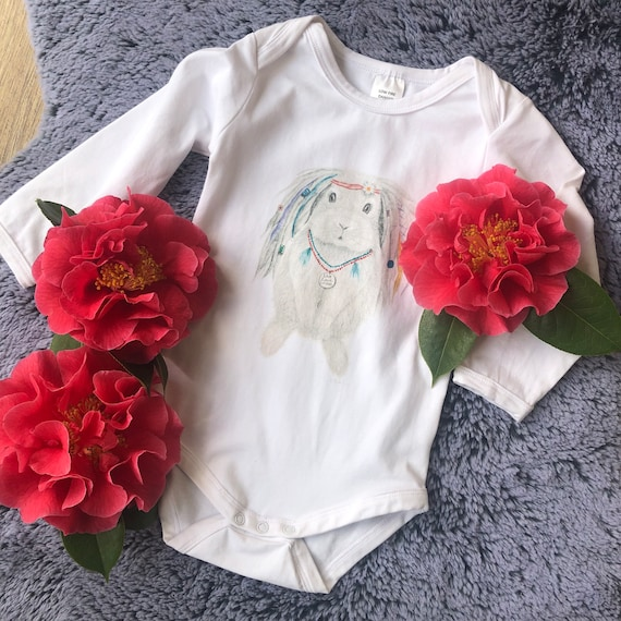 Emerald the Bunny - baby clothes, bunny, rabbit, gift bag