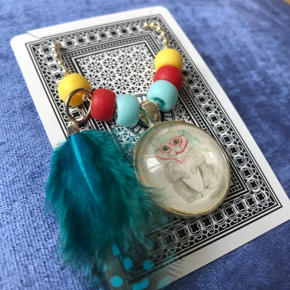 Marmalade the Cat - necklace, children, jewellery, hippy, boho, colourful