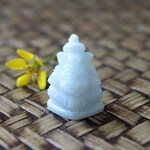 Mini Hand Carved, White Jadeite Jade (Grade A), Lord Ganesha Carving, Highly Detailed