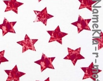 Strechjersey - Batik Sterne rot