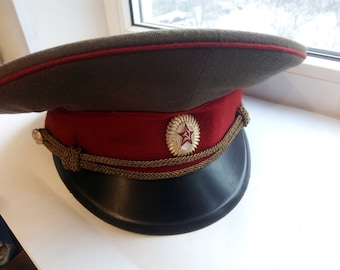 e13a307597e Vintage Authentic Army Cap Soviet military