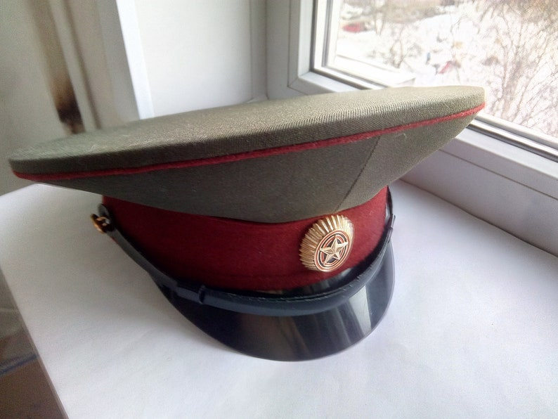 be2f9ce896561 Comrade! Be ready! Russian Army Cap military style, Military Hat Cap,  Soviet Military Hat Cap Size 57 US 7.1/8