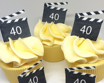 Personal Dart Board Birthday Cupcake Toppers x20 Rice Paper or Icing 868