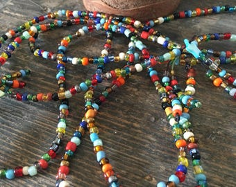 Multicolor necklace beaded #2
