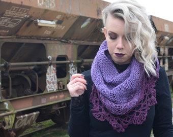 Spine scarf; Purple heart