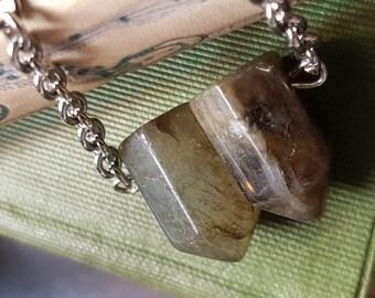 Labradorite bullet necklace