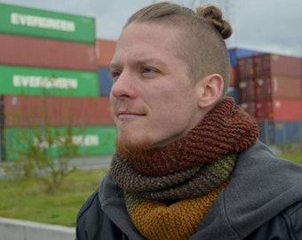 Infinity scarf; Autumn tweed