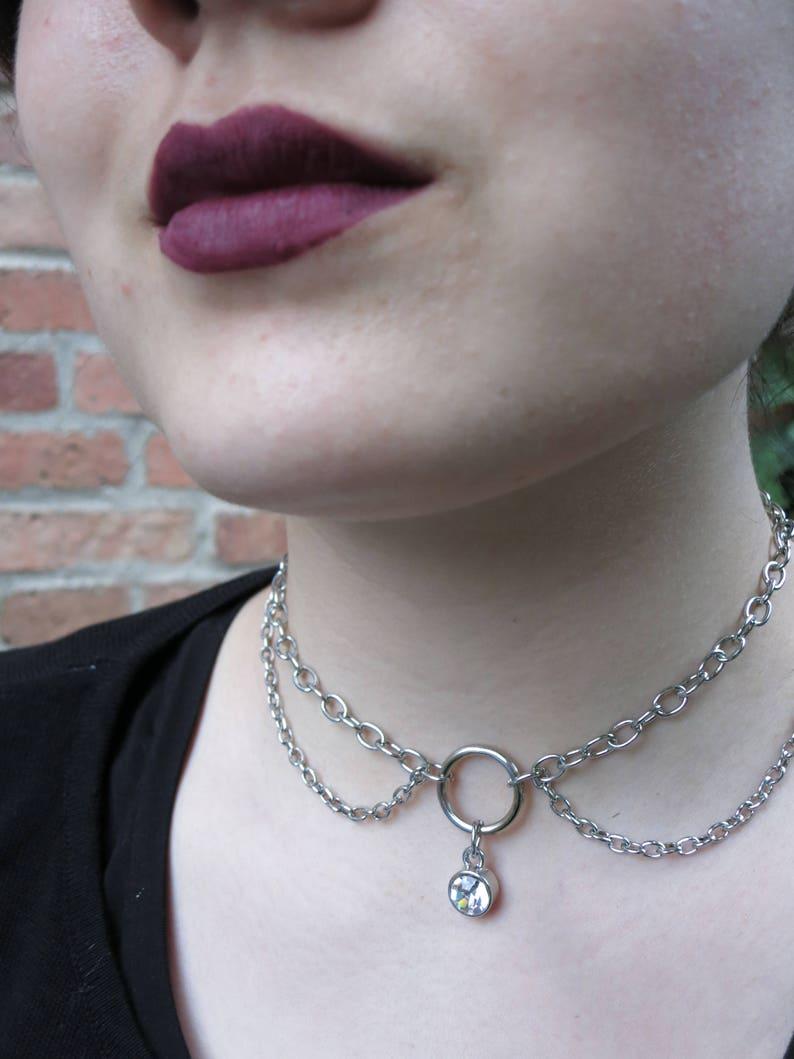 Bling chain choker