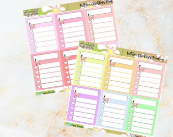 Mabee : Checkboxes - Handdrawn stickers for your planners, journals etc.
