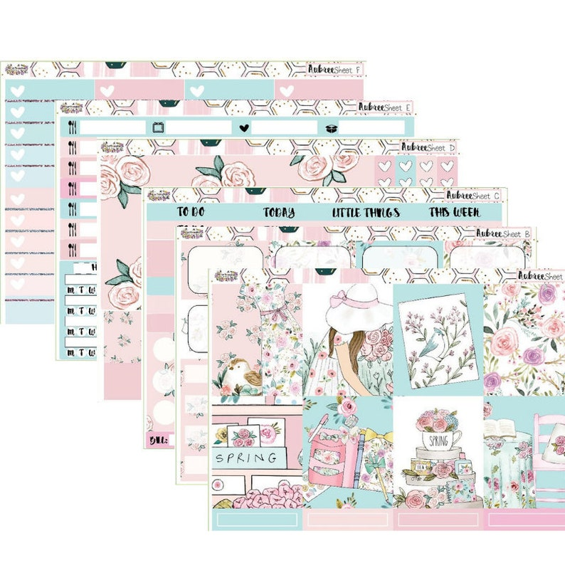 Annie Vertical Weekly Kit Planner Stickers for Erin Condren Planners and Others