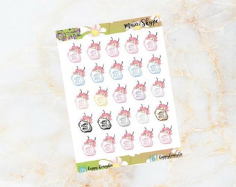 Mabee: SKYPE button - Planner Stickers