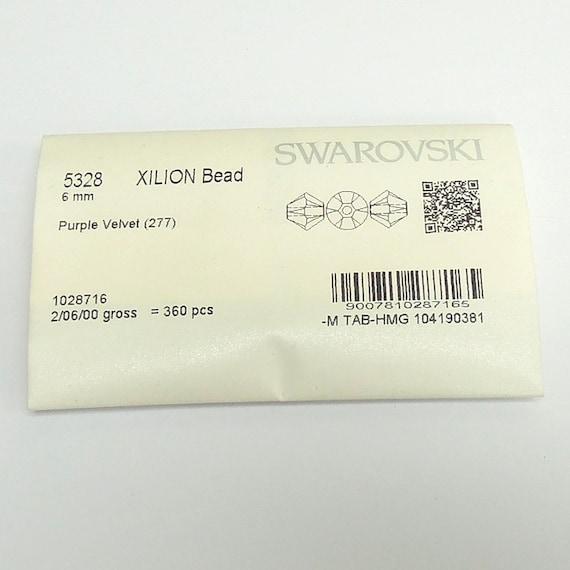 Swarovski 5328 Xilion Bicone 6mm Crystal Beads GENUINE! 360 pcs FACTORY PACK
