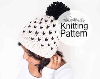 PATTERN | Knitted Hat Pattern | Adult Hat Pattern | Banff Fair Isle Hat Knitting Pattern | Knitting Pattern