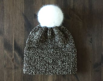 Knitted Beanie x Knitted Hat x Double Brimmed Beanie x Maple