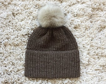Knitted Beanie x Knitted Hat x Double Brimmed Beanie x Brown