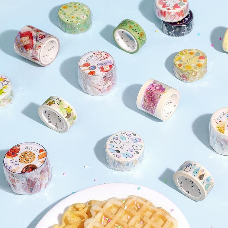 BGM Sweets Dessert Waffles Cupcakes Cake GOLD FOIL Washi Tape