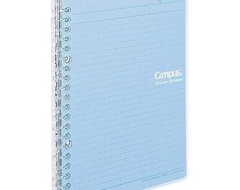 Kokuyo A5 Campus BLUE Smart Ring Binder 20 Rings Notebook   25 Sheets Capacity SP130