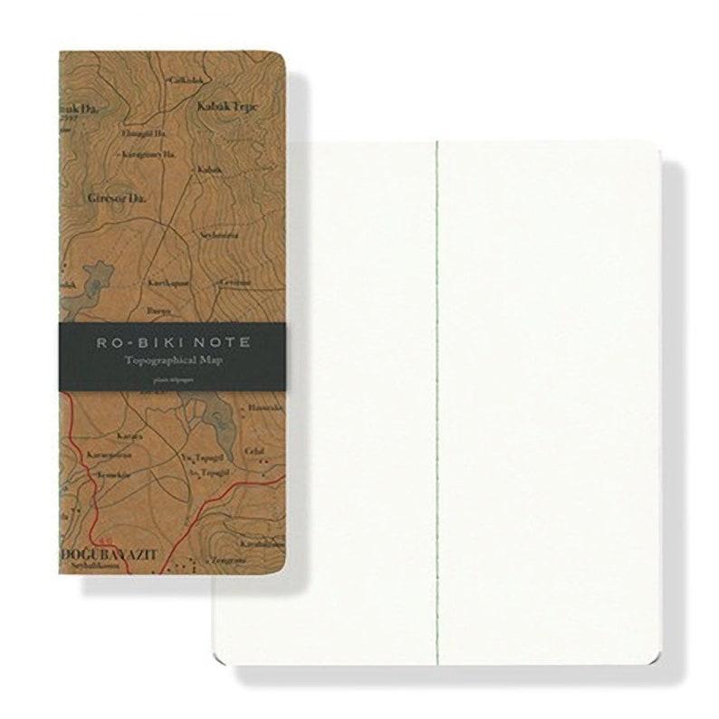 Topographical Map Yamamoto Ro-Biki Notebook 3.6 x 8.3 Blank Basic Chiffon Paper