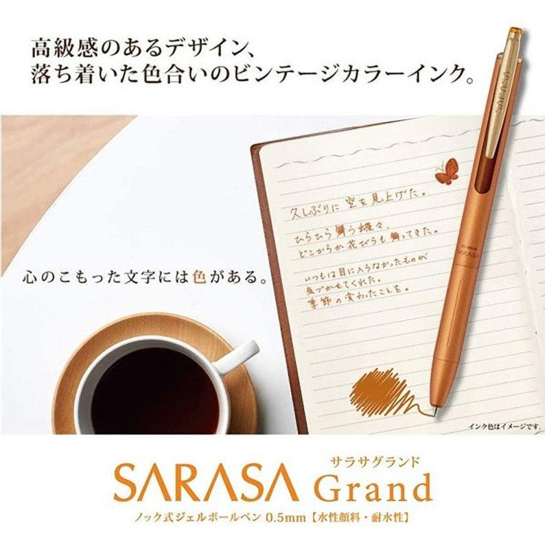 Zebra Sarasa GRAND CAMEL YELLOW Metal Body Vintage 0.5mm Push Clip Gel Pen 2020 Upgrade