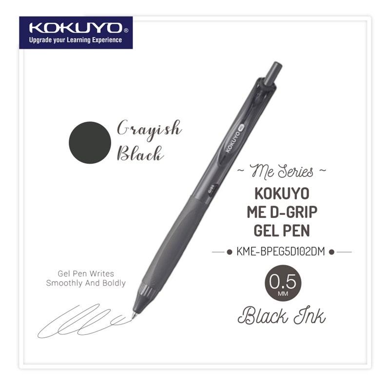 Kokuyo ME Series Retractable Gel Pen GRAYISH BLACK 0.5mm Single Pen or Set