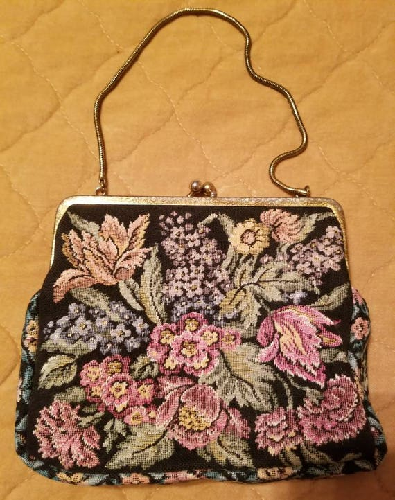 Exquisite Vintage Tapestry  Purse