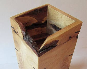 Hardwood Pet Urn - Maple with Burls