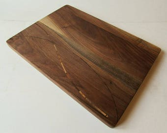 Inlay Cutting and Serving Board made from Appalachian Hardwoods