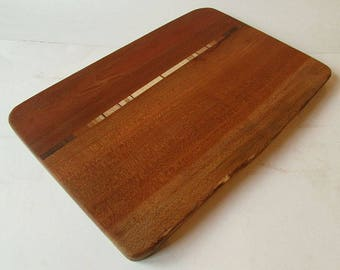 Live Edge Inlay Cutting and Serving Board made from Appalachian Hardwoods