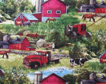 Horses, Cows, Red Barns, Tractor and Even an Old Farm Truck Are All Right Here!